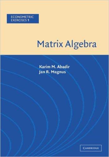 دانلود کتاب جبر ماتریسی (به همراه تمرین های اقتصادسنجی)