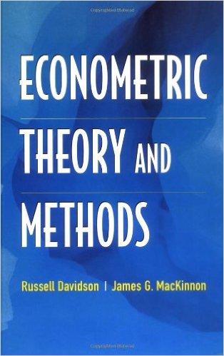 دانلود کتاب اقتصادسنجی دیویدسون مک کینون