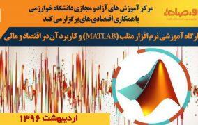 کارگاه آموزشی نرم افزار متلب (MATLAB) و کاربرد آن در اقتصاد و مالی-اردیبهشت 96